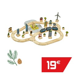 Circuit de train en bois