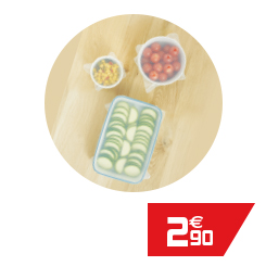 Couvercle extensible alimentaire silicone x3
